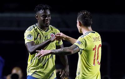 Колумбийские футболисты обыграли катарцев и вышли в плей-офф Кубка Америки по футболу