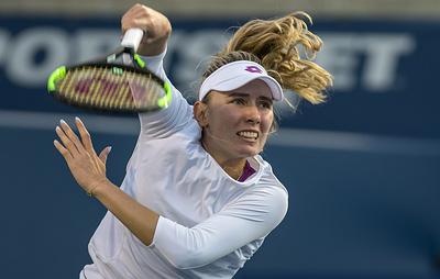 Теннисистка Александрова проиграла Халеп во втором круге турнира WTA в Цинциннати