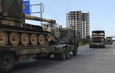 МИД Сирии: турецкие машины пересекли сирийскую границу и направляются к городу Хан-Шейхун