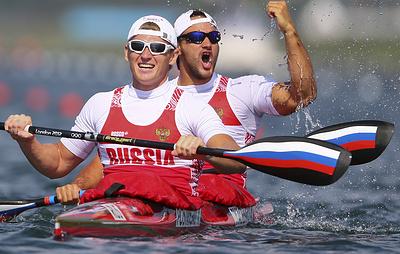 Дьяченко и Постригай выиграли золото ЧМ в гребле на байдарках-двойках на дистанции 200 м