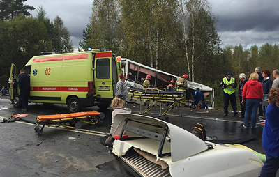 После ДТП в Ярославской области госпитализировали 19 пассажиров автобуса