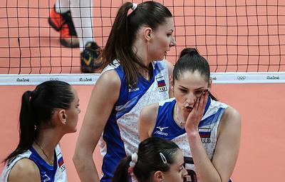 Женская сборная России потерпела первое поражение на Кубке мира по волейболу