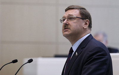 Косачев назвал абсурдной причину ожидаемого продления Евросоюзом антироссийских санкций