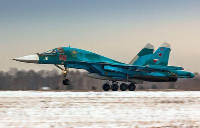 Истребители-бомбардировщики Су-34 ЦВО приступили к боевым стрельбам в новом учебном году