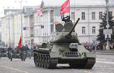 Танки Т-34 времен Великой Отечественной войны выйдут на парад в Екатеринбурге 9 мая