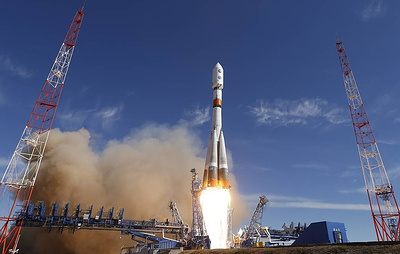 "Ракета ""Союз-2.1б"" с 34 спутниками OneWeb стартовала с космодрома Байконур"