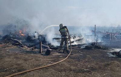 Во Владимирской области ликвидировали открытое горение домов в деревне