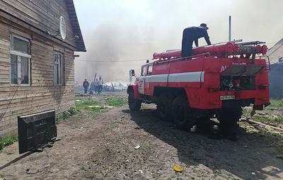 В Самарской области загорелись 11 частных домов