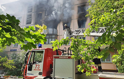 Взрыв и пожар произошли в квартире на северо-востоке Москвы