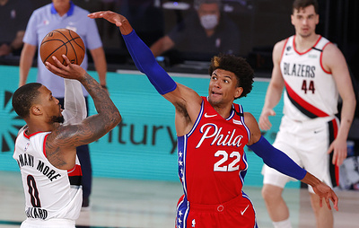 """""""Портленд"""" победил """"Филадельфию"""" в матче НБА, Лиллард набрал 51 очко"""