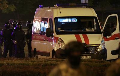Автомобиль в центре Минска сбил сотрудника ГАИ
