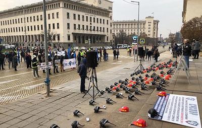 В Софии полицейские провели общенациональную акцию протеста