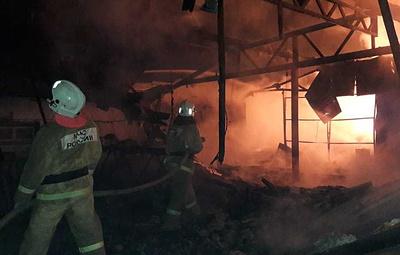 На Кубани произошел пожар на складе