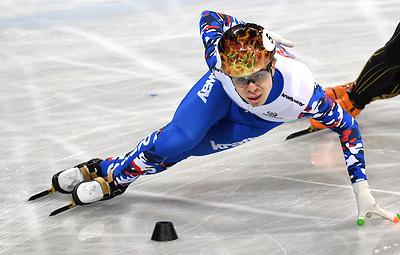Россиянин Елистратов стал вторым на дистанции 500 м на чемпионате мира по шорт-треку