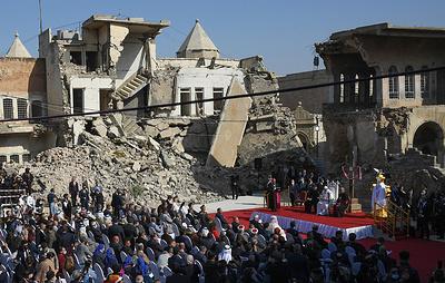 Папа Римский Франциск отдал дань памяти жертвам войны и терроризма в Мосуле