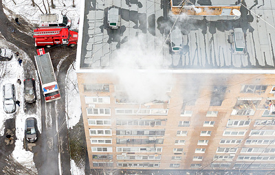 Взрыв произошел в жилом доме в Химках