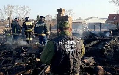 В Свердловской области ликвидировали пожар в сельском доме, где погибли пятеро детей