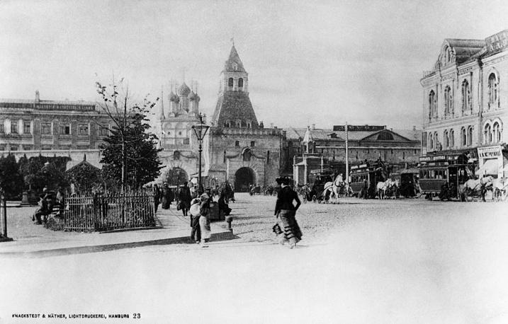 Ильинские ворота Китайгородской стены, конец ХIХ века
