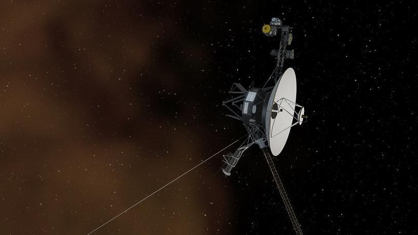 """Автоматический зонд """"Вояджер-1"""" стал первым космическим аппаратом, вышедшим в межзвездное пространство"""