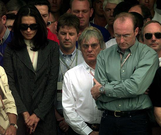 Берни Экклстоун с супругой Славикой на церемонии прощания с принцессой Дианой, 1997 г.