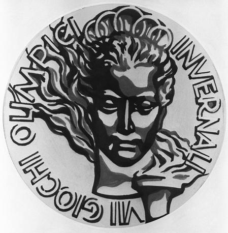 Золотая медаль VII зимних Олимпийских игр, 1956 г.(лицевая сторона)