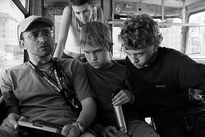 """В 2003 году Звягинцев снял свой первый полнометражный фильм """"Возвращение"""". На фото: съемки фильма """"Возвращение"""""""