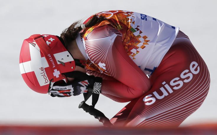 Швейцарская горнолыжница Доминик Гизин