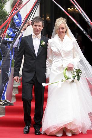 Свадьба Уле-Эйнара Бьорндалена и бельгийской биатлонистки итальянского происхождения Натали Сантер, 2006 г.