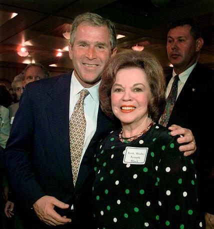 С Джоржем Бушем. 1999 год