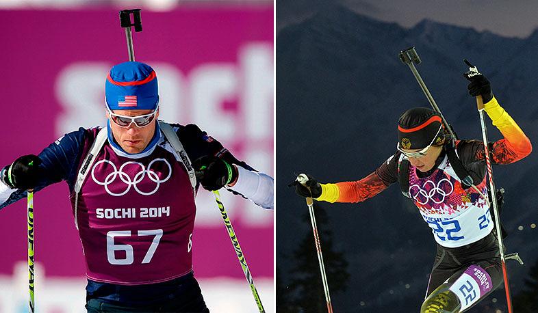 Американский биатлонист, участник Олимпийских игр в Турине, Ванкувере и Сочи Тим Бурк встречается с титулованной немецкой биатлонисткой Андеа Хенкель