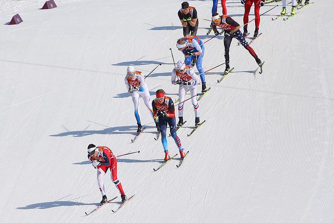 Эстафета 4 x10 км в соревнованиях по лыжным гонкам