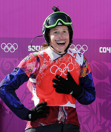 Чешская сноубордистка Ева Самкова, завоевавшая золото в дисциплине борд-кросс