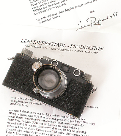 Камера Leica IIIc K Лени Рифеншталь была продана за €6 тыс. на аукционе WestLicht