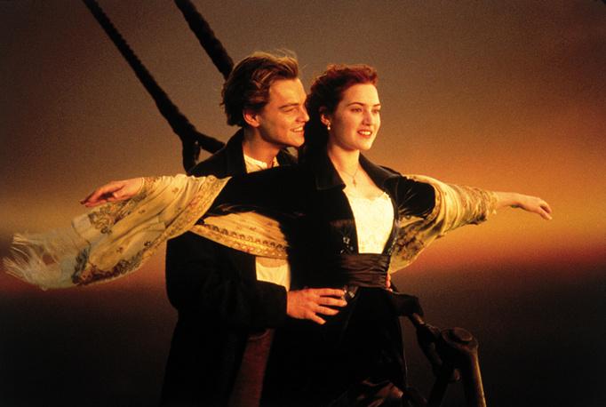 """Леонардо Дим Каприо и Кейт Уинслет в фильме """"Титаник"""", 1997 год"""
