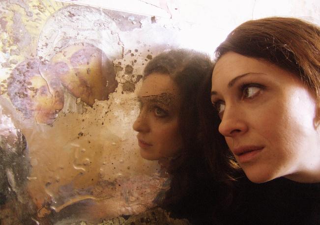 Ксения Раппопорт во время съемок фильма режиссера К.Серебренникова «Юрьев день».