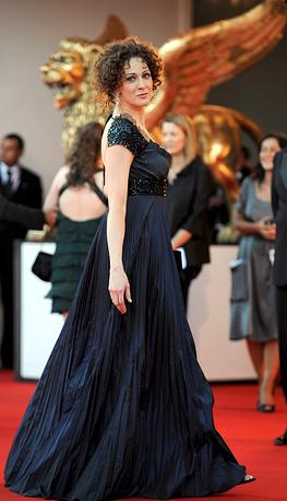 """Ксения Раппопорт перед показом фильма """"После прочтения сжечь"""" на  65 Венецианском кинофестивале."""
