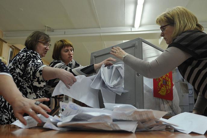Подсчет голосов на выборах мэра Новосибирска