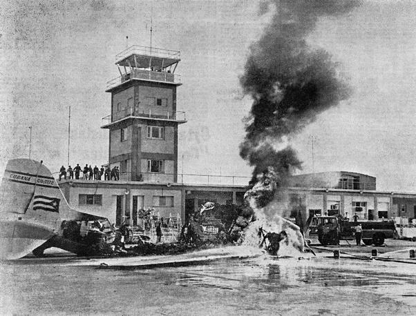 Кубинский авиалайнер, уничтоженный ракетой, апрель 1961 года