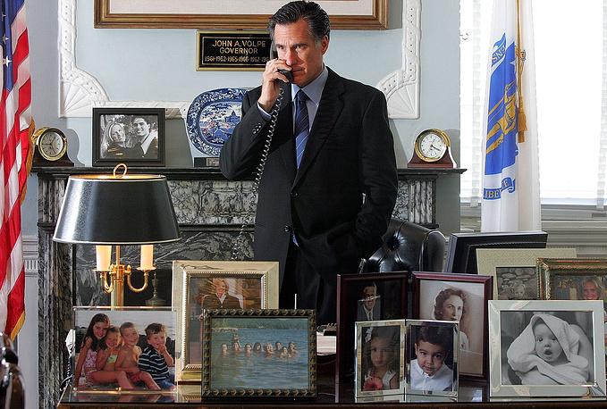 Рабочий кабинет губернатора штата Массачусетс в 2003 - 2007 годах Митта Ромни в Бостоне, 2005 год