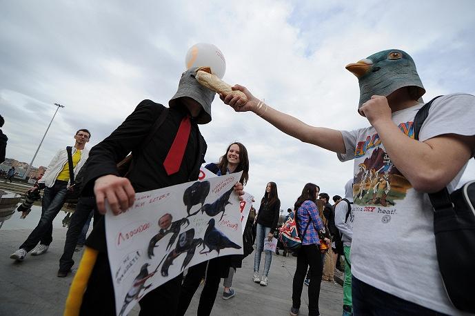 В Екатеринбурге молодежь отметила Первомай альтернативным шествием