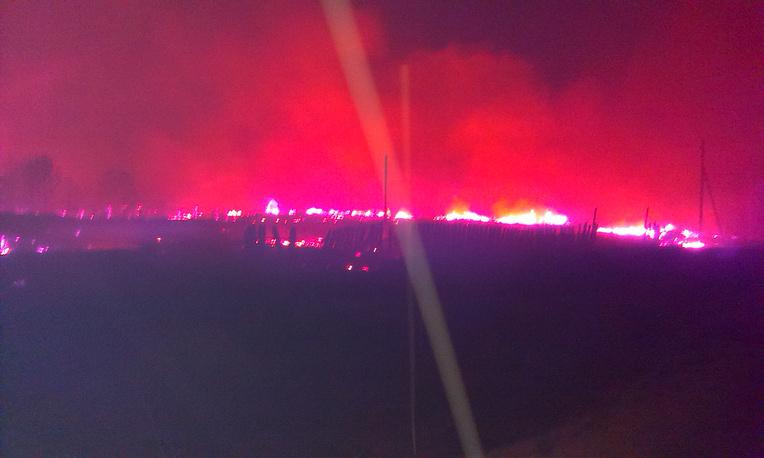 Пожар в поселке Дальний