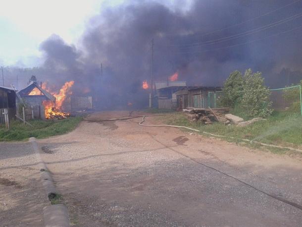 Пожар в деревне Броды Пермского края