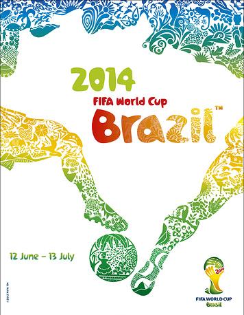 Плакат 20-го чемпионата мира, который проходит в Бразилии