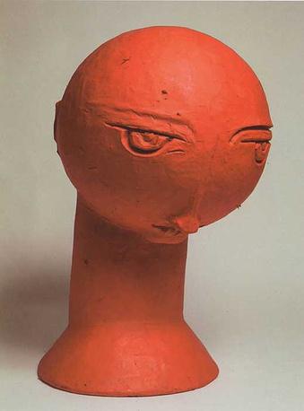 Елена Суровцева. Голова в красном. 2006. Папье-маше