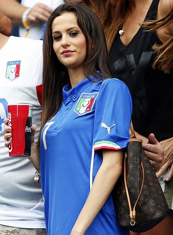 Жена защитника итальянской сборной Иньяцио Абате