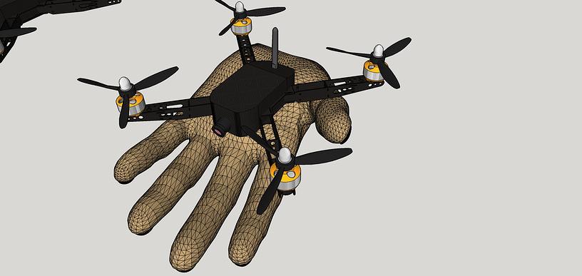 Макет карманного беспилотника, разработанного уральскими робототехниками