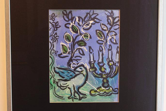 Без названия. Марк Шагал. Литография. 1962 год