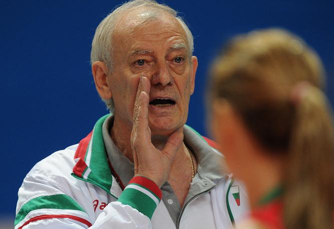 Главный тренер сборной Болгарии Владимир Кузюткин