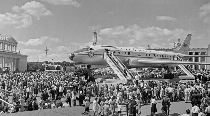 Всесоюзная сельскохозяйственная выставка. На площади Промышленности, 1958 год
