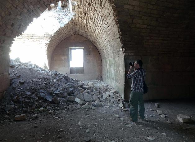 В крепости Крак де Шевалье после того, как правительственные войска отбили ее у повстанцев